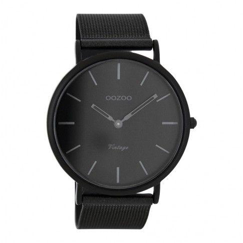 OOZOO Vintage horloge Zwart C7722 (44 mm)