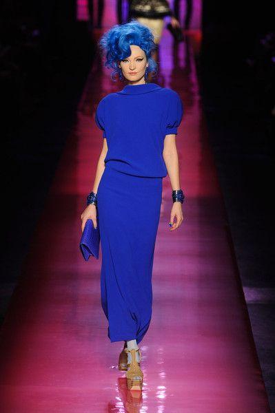 Jean Paul Gaultier Spring 2012A Mini-Saia Jeans, Jean Paul Gaultier, Blue, Jeanpaul Gaultier, Doces Paul, Jeans Paul Gaultier, Gaultier Spring, Spring 2012, Haute Couture