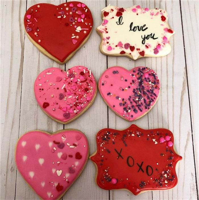 Easy Valentine S Day Cookies Decorating Ideas Valentinesdaycookies Simple Valentine Valentines Valentines Day Cookies