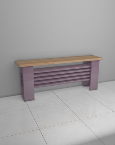 The AQUA Desk radiator is a tubular radiator, which is situated horizontally with a beech desk above the radiator, allowing you to sit in the warm. Central heating radiator. Delivery: 6 weeks.