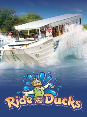 Ride the Ducks Branson is a great way to see all the hot spots of Branson. See views of the lake, the 76 Strip, the landing, and splash into the lake with this land/water vehicle!