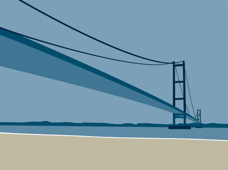 Humber Bridge by Ian Mitchell.