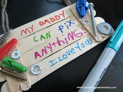 Voor vaderdag. Leuk idee!