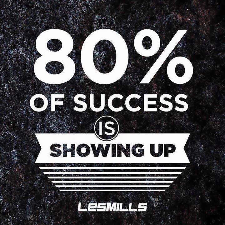 """Les Mills """"80% of success is showing up"""""""