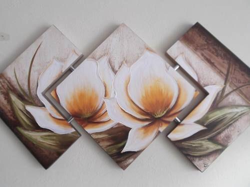 Super Promoção Telas, Quadros Decorativos De Flores - R$ 149,00