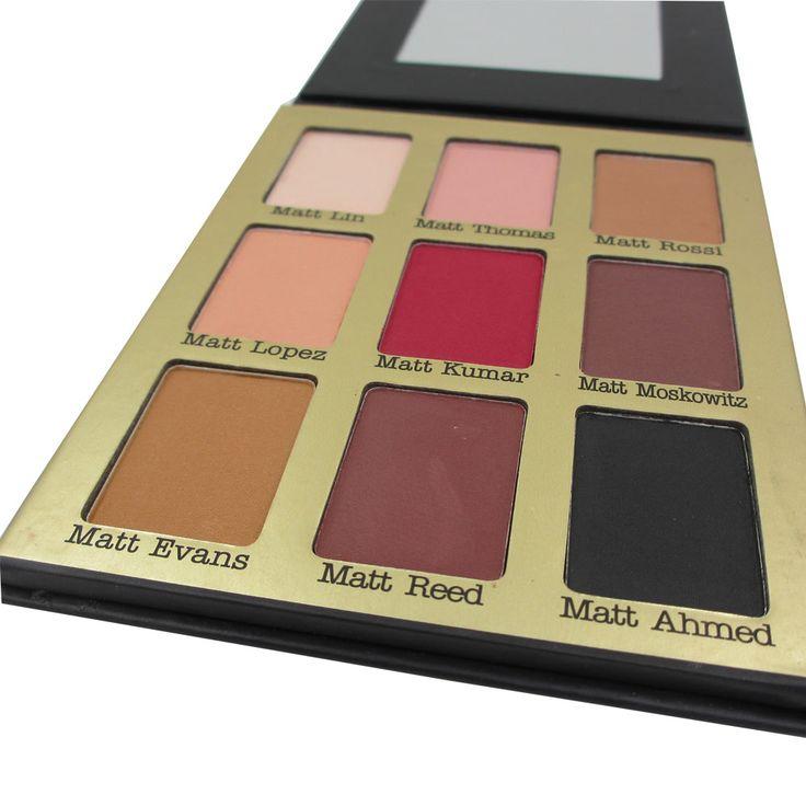 9 Colores Mate Sombra de Ojos Maquillaje Conjunto Kit de Belleza sombra de Ojos Cosméticos Paleta de Sombra de Ojos Brillan