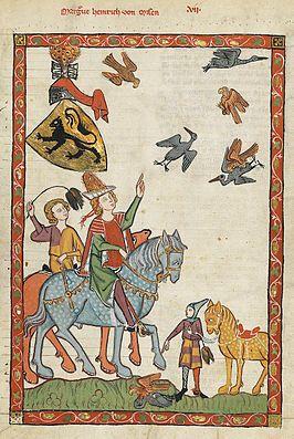 Markgraaf Hendrik III van Meißen (Codex Manesse, 14e eeuw)