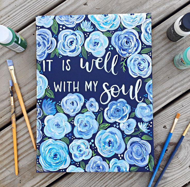 It is well with my soul canvas / hymn canvas / hymn art by BethsBrushes on Etsy https://www.etsy.com/listing/513516887/it-is-well-with-my-soul-canvas-hymn