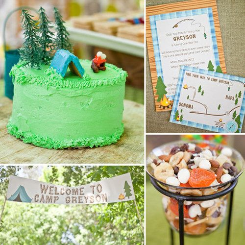 Camping Birthday - Love this idea!