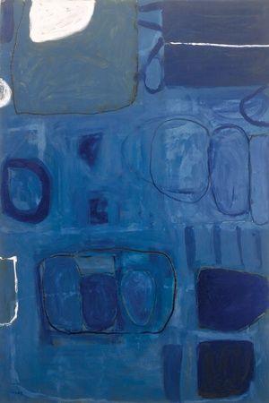 theheartisalandfill: William Scott Blue Painting 1960