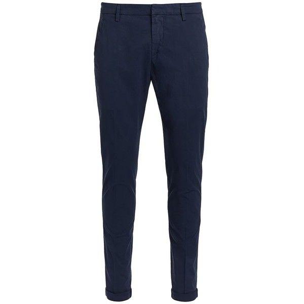 Don Dup Gaubert Blue Trousers Chino Cut (3,155 MXN) ❤ liked on Polyvore featuring men's fashion, men's clothing, men's pants, men's casual pants, blu, mens blue pants, mens blue chino pants and mens chino pants