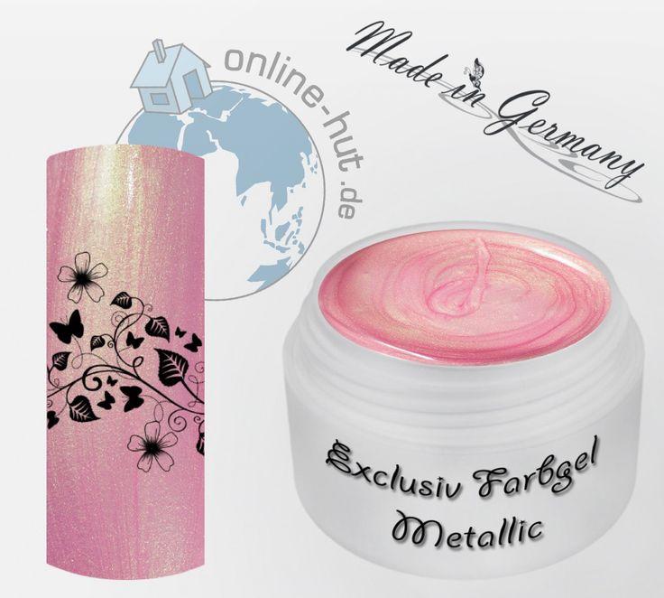 5ml UV Exclusiv Farbgel Neu Golden Pink Metallic