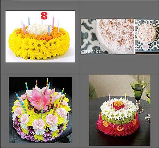 birthday cake flower arrangement ftd