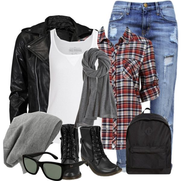 This is so cute!!! Not sure about the boots or holey jeans tho! Like the boots and jeans... Not sure about the jacket
