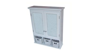 """MEDICINE CABINET ($150) Store your toiletries with this Allen + Roth 24 3⁄4"""" x 30 1⁄2"""" surface mount medicine cabinet."""