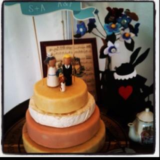 Stew & Ali's wedding cake - an Ashgrove cheese cake. Literally. My heroes.