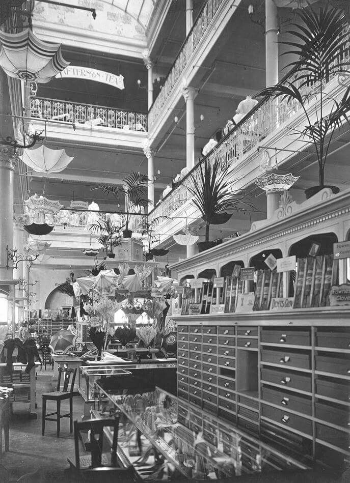 Inside of Georges Department Store at 162 Collins St,Melbourne in 1908.