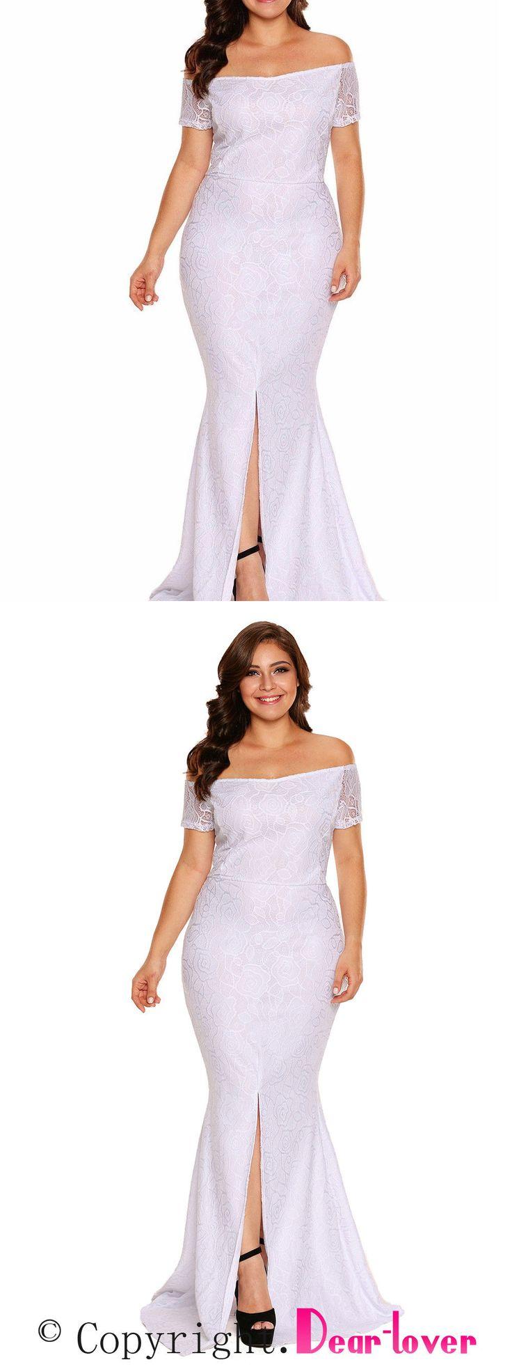 Wedding Dresses 15720: Plus Size Off Shoulder Lace Gown Wedding Gown Dress  Xxl Xxxl Halloween