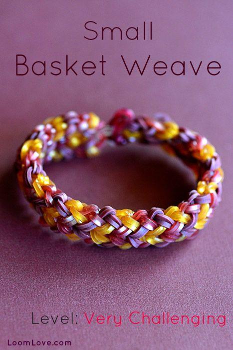 How to Make a Small Basket Weave Bracelet #rainbowloom