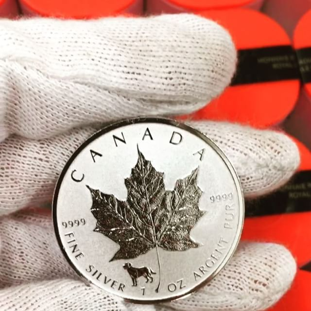2018 1 Oz Silver Canadian Maple Leaf Lunar Dog Privy 9999 Fine As Low As 20 48 Bullionexchanges Bu Silver Coins Silver Bullion Coins Silver Bullion
