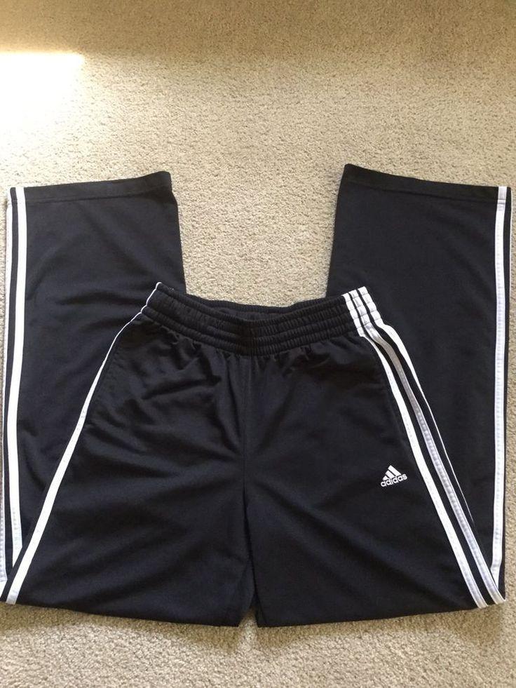Adidas Mens Size S Black Jogger Pants Athletic Running Drawsting Sweatpants #adidas #Pants