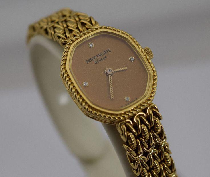 Patek Philippe 18K Yellow Gold Diamond Ladies Wrist Watch #PatekPhilippe #LuxuryDressStyles