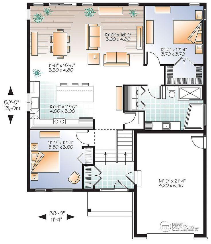 Détail du plan de Maison unifamiliale W3288-V1