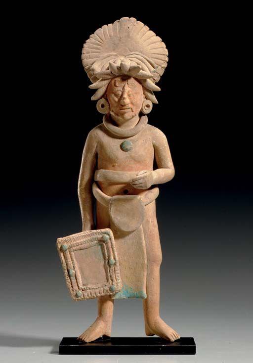 MAYAN STANDING DIGNITARY - JAINA, LATE CLASSIC, CA. A.D. 550 - 950