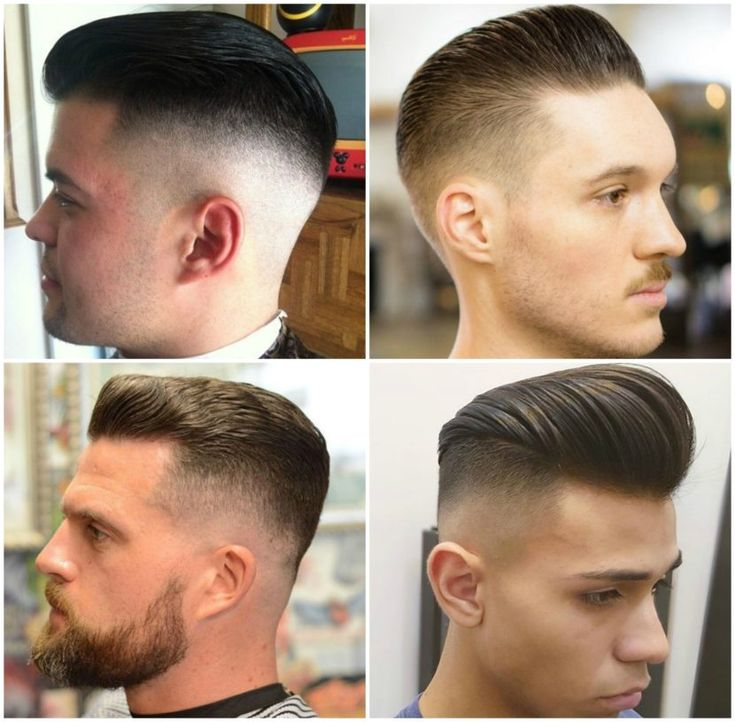 LOW BALD FADE WITH SLICK BACK  Low fade on the sides and back while hair on the top is kept long enough to be able to slick it back. Still classy and neat.