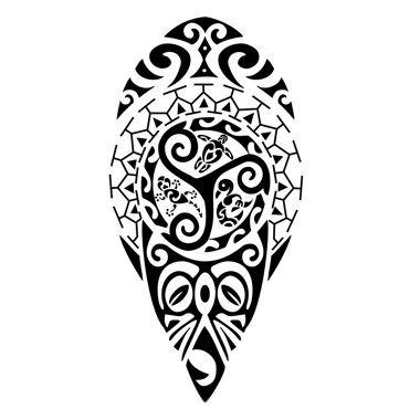 Maori symbols tattoo
