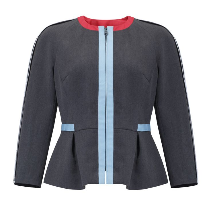 Kosmal, Lucky Me, resort 2016, suit jacket (grey). To download high or low resolution product images view Mondrianista.com (editorial use only).