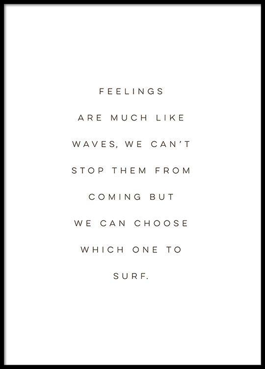 Poster über Gefühle