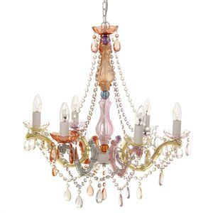 Lamp Chandelier Gypsy 6 Arms - Pastel