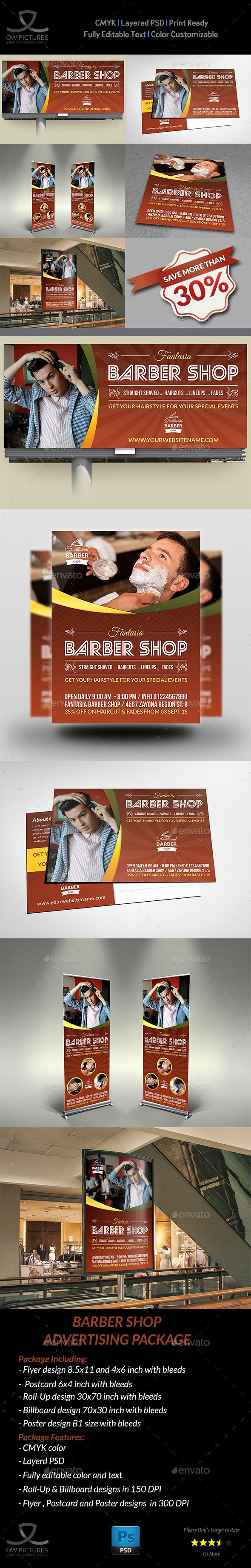 38 best print images on pinterest postcard template postcard barber shop advertising bundle pronofoot35fo Image collections
