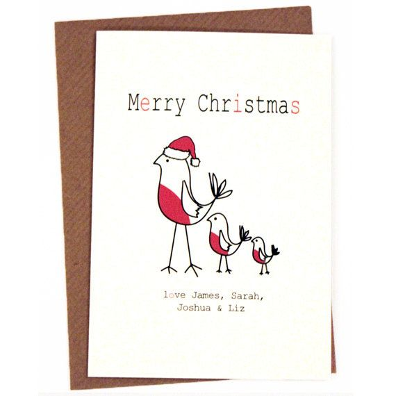 53 best christmas card ideas images on pinterest card ideas a personalised robin christmas card by paperbirdby on etsy 250 colourmoves Choice Image