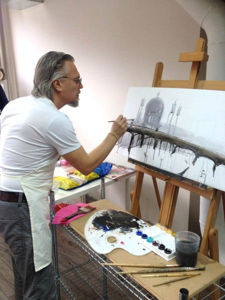 Alexander Shumtsov/Votsmush. His watercolors are full of life, energy, depth, narrative and humor in some cases.