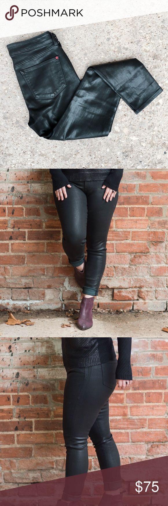 "Spanx Jeans Waxed finish Spanx® jeans. 5-pocket jean. ""Very Black."" SPANX Pants Skinny"
