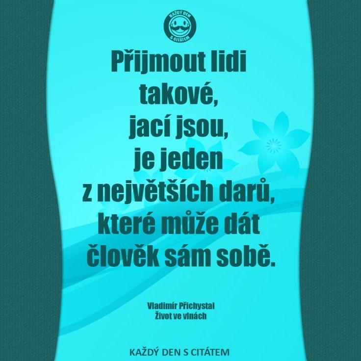 Přijmout lidi takové, jací jsou, je jeden z největších darů, které může dát člověk sám sobě. www.zivotvevlnach.cz