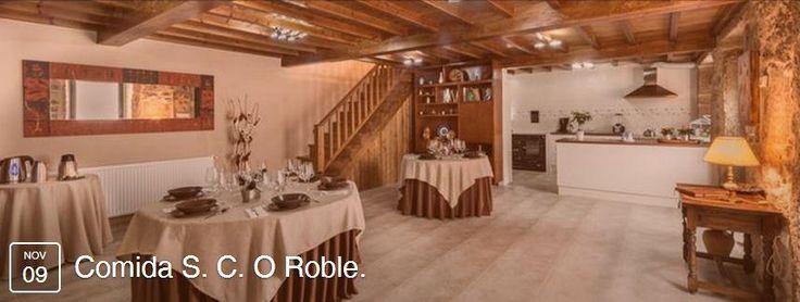 ¿Ya te has apuntado?  Comida S. C. O Roble  La aportación a la comida será de 6 euros.   (Incluye 1º, 2º y postre)