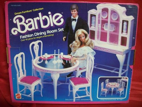 barbie dining room set | Barbie Fashion Dining Room Set 1984 Model 9478 | eBay ...