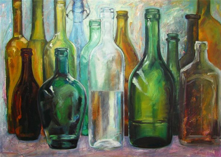 Oil paintings of glass bottles fine art blogger art for How to paint glass with oil paint