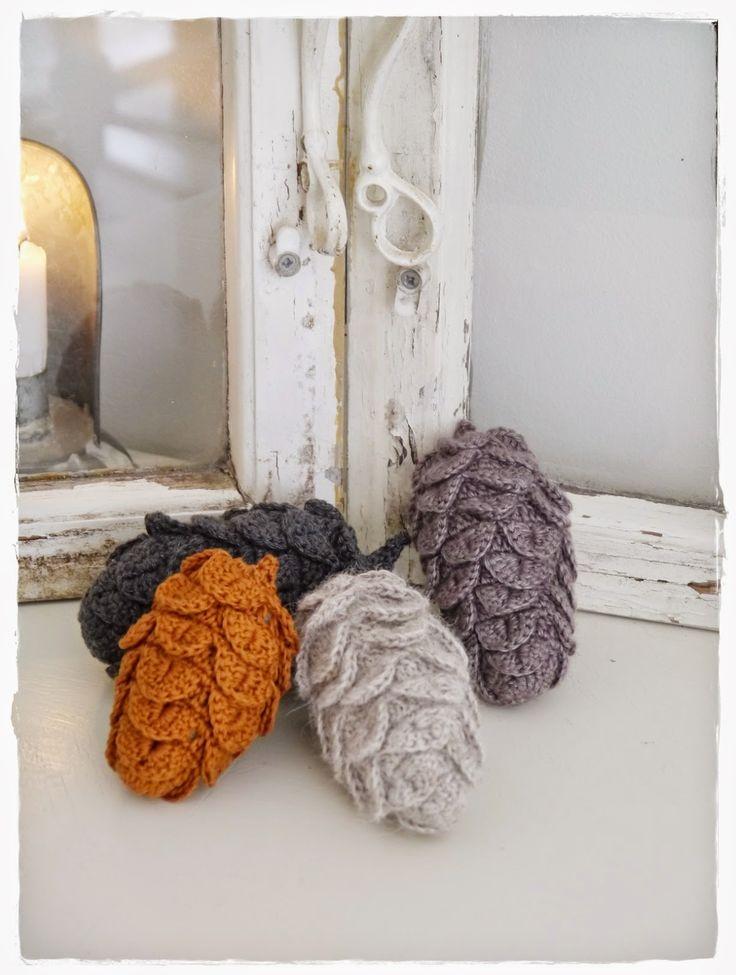 tannenzapfen more knit crochet patterns free crochet crochet ...