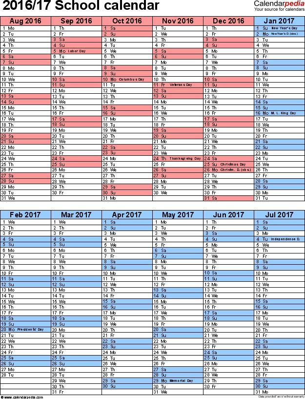 Best 25+ 2016 17 school calendar ideas on Pinterest Free - sample academic calendar