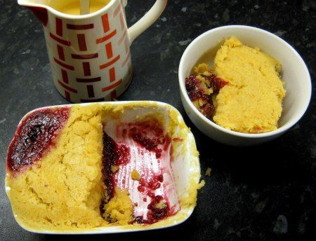 Jam sponge pudding recipe - ready in less than 10 minutes!