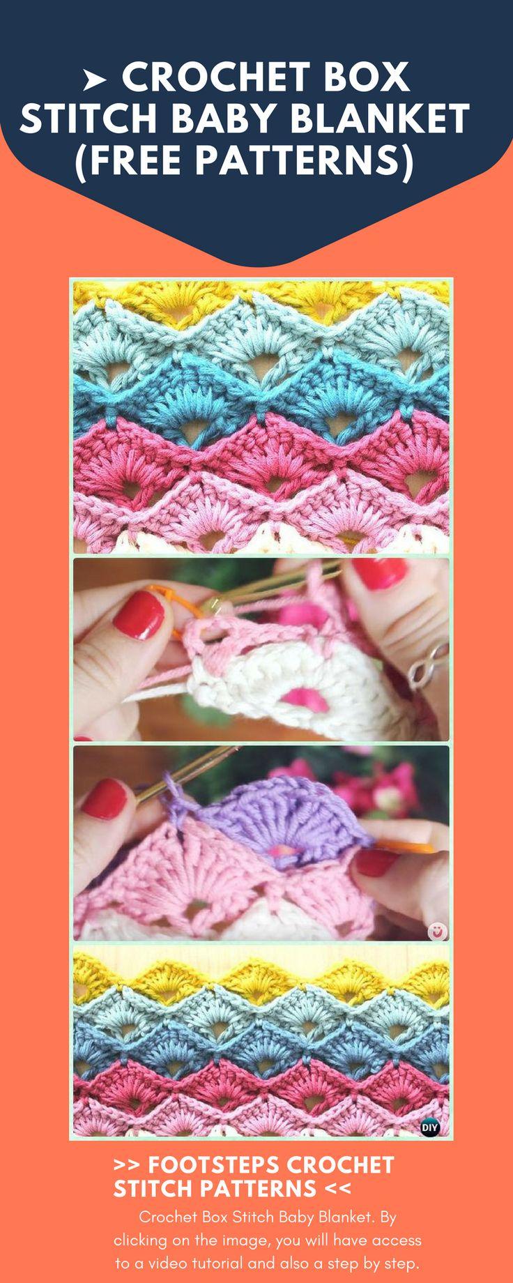 ➤ Crochet Box Stitch Baby Blanket (FREE PATTERNS)