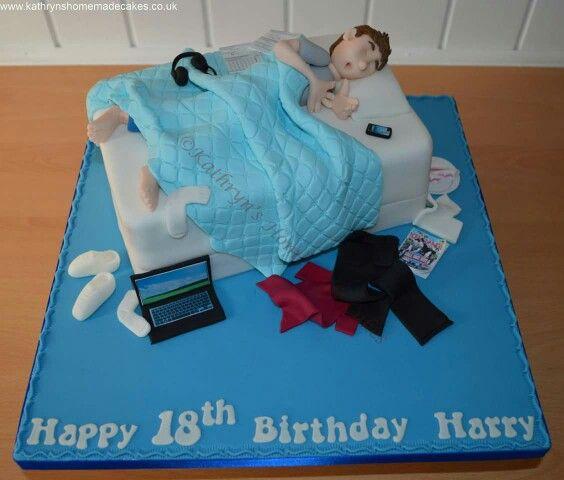Stinky Teenagers Messy Bedroom 18th Birthday Cake