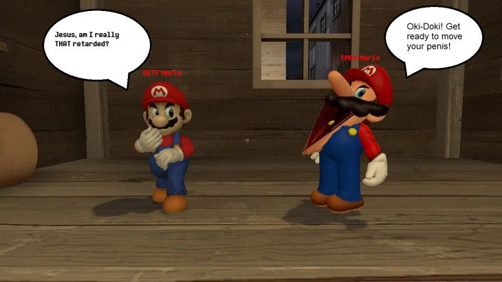 1366x768 Modinthefamily Mario Vs Smg4 Mario Gmod By Wrenchy247 On Deviantart With Images Smash Bros Funny Funny Memes Funny Pictures