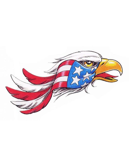 american eagle tattoos for women | American Flag Eagle Head Tattoo