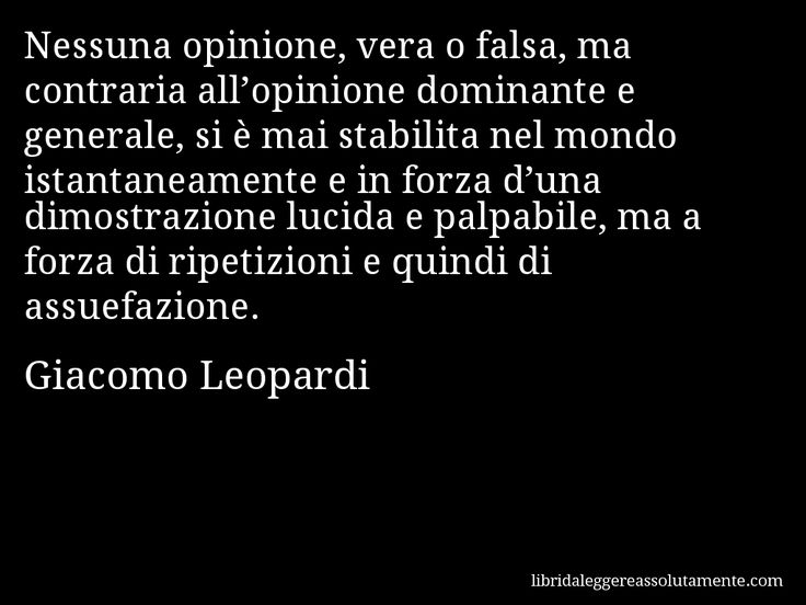 Cartolina con aforisma di Giacomo Leopardi (55)