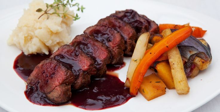 Pan Fried Venison with a Blackcurrant Jus. http://www.follain.ie/our-kitchen/recipes-singular/pan-fried-venison-with-a-blackcurrant-jus